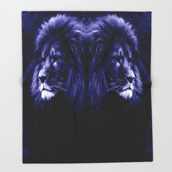 Lion. Throw Blanket by 2sweet4words Designs