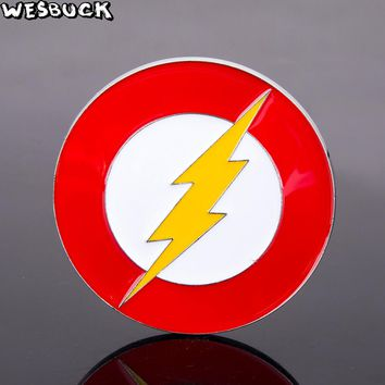 WesBuck Hot Selling The Flash or Captain America Shield Belt Buckle