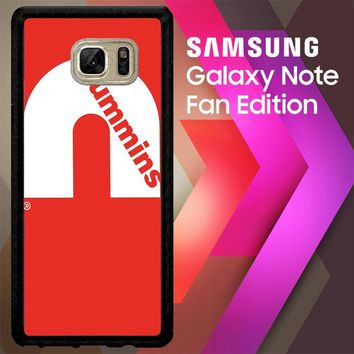 Cummins Logo V0407 Samsung Galaxy Note FE Fan Edition Case
