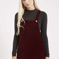 PETITE Cord Pinafore Dress