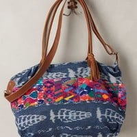 Patia Ikat Weekender by Stela 9 Light Denim All Bags