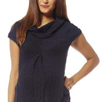 Jules And Jim Maternity Cable Knit Pocket Sweater