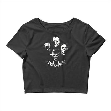 horror icons Crop Top