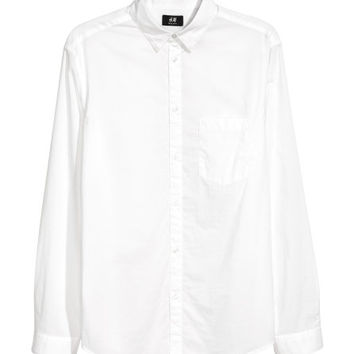 Cotton Shirt Regular fit - from H&M