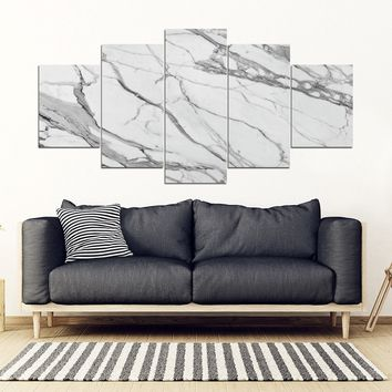 MARBLE 5 Piece Wall-art Framed Canvas Prints