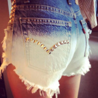 Custom Order. Ombre, studs, lace, high waist