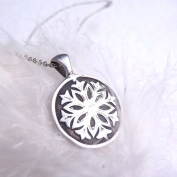 Christmas in July Snow White snowflake pendant custom made to order
