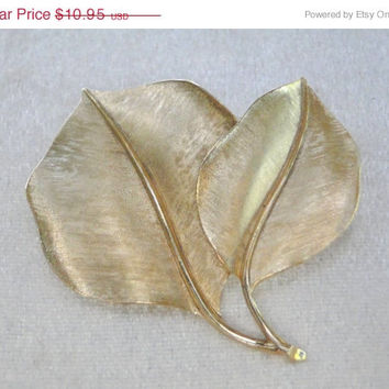 SALE Crown Trifari Leaf Brooch Classic Trifari Brooch Fall Leaves Pin