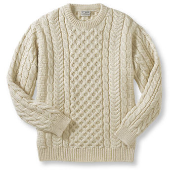 Heritage Sweater, Irish Fisherman's Crewneck: Crewnecks | Free Shipping at L.L.Bean