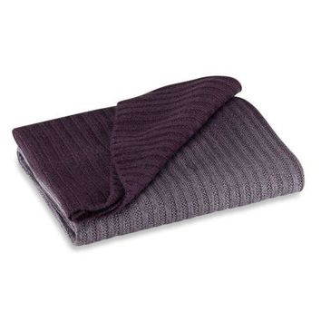 KENNETH COLE Reaction Home Ombre Throw in Plum