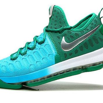 2018 Really Cheap KD 9 IX Clear Jade Hyper Turquoise Blue Lagoon Silver Brand sneaker