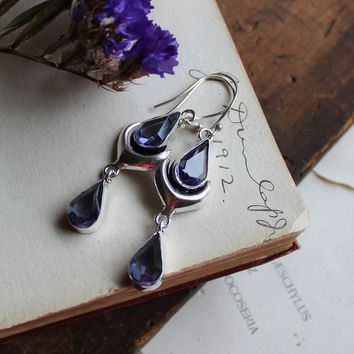Amethyst Silverplated Earrings