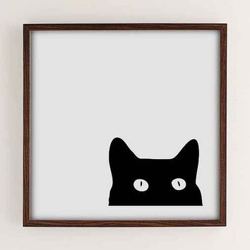 Shannon Lee Black Cat Art Print