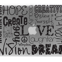 Inspirational Subway Art Macbook Decal / Macbook by BengalWorks