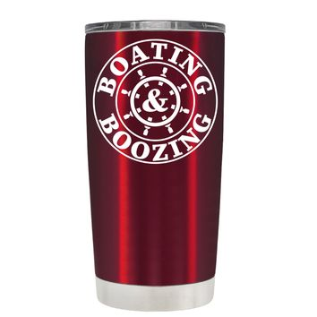 TREK Boating & Boozing on Translucent Red 20 oz Tumbler Cup