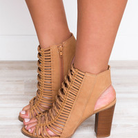 Like A Bird Booties - Nude