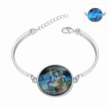 floating charms Glowing in the dark charm bracelet Aries 2 pulseras mujer jewerly accessories