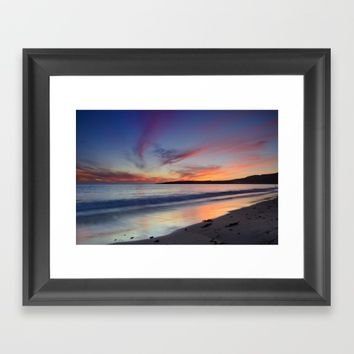 """Bolonia beach at sunset"" Framed Art Print by Guido Montañés"