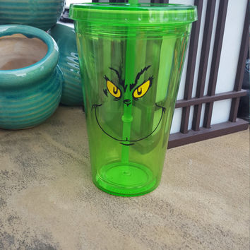 The Grinch - Grinch Tumbler - Grinch Cup - Christmas Cup - Grinch Inspired