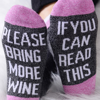 Please Bring More Wine Socks - Fairyseason
