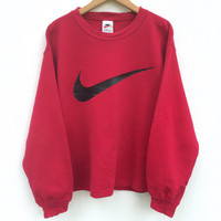 Nike Big Logo Sweatshirt / Red