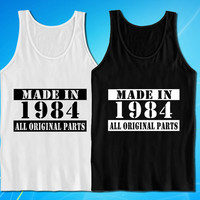 Made In 1984 Vintage 30th Birthday Gift Present tank top for mens and womens