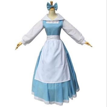 belle blue dress halloween women costume beauty and the beast adult princess adults southern dresses sale costumes