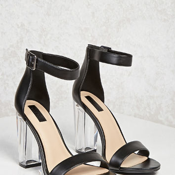 Chunky Lucite Heels (Wide)