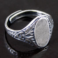 2 etched metal silver adjustabl filligree ring shank settings diy jewelry