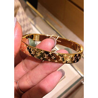 LV Louis Vuitton Fashion New Popular High end Couple Stainless Steel Bracelet
