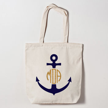 Anchor Monogrammed Tote Bag