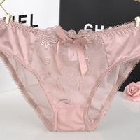 Ladies Lace Embroidery Plus Size Panties = 5990430657