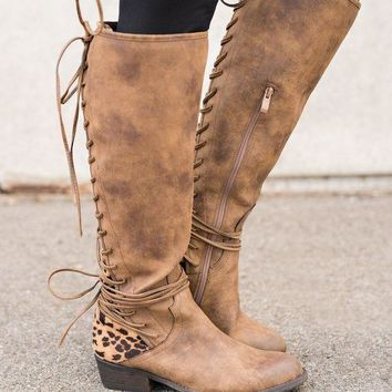 ONETOW Boise Cheetah Backing Boots (Tan)
