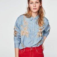 LONG EMBROIDERED SHIRT DETAILS