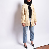 Vintage Fisherman Cable Knit Cardigan