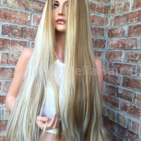 SAN DIEGO Blonde Bayalage Hair Ombre Mermaid Wig 30""