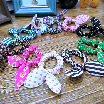 5 PCS Rabbit Ears Bow Hair Hoop 03
