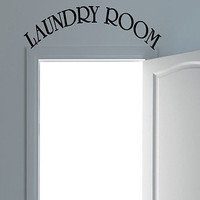 The Laundry Room quote wall sticker quote decal wall art decor 6141