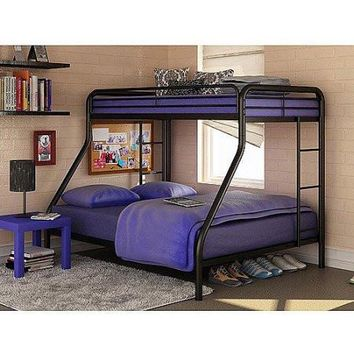 Kids, Toddlers Twin-Over-Full Steel Metal Bunk Bed Childrens Bedroom Furniture