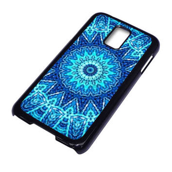 blue mandala For Samsung Galaxy S5 Case ***
