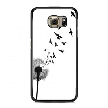 dandelion bird tattoo For samsung galaxy s6 case