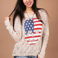 Patriot Skull Knit | Trendy Knits at Pink Ice