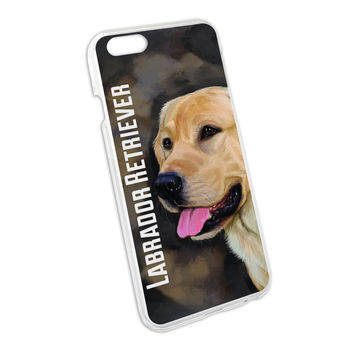 Yellow Labrador Retriever Brown - Dog Pet Snap On Hard Protective Case for Apple iPhone 6