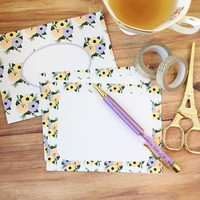 Periwinkle floral stationery set