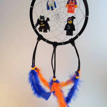 Lego Movie dream catcher- Emmet, Wildstyle, Vitruvius, Batman dream catcher