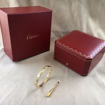 One-nice? Cartier Love Bracelet Yellow Gold Size 18