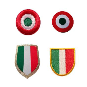 Embroidery flag circle Scudetto Coppa Italy patch champion Cup football patches Badges, Football Hot Stamping Patch Badges