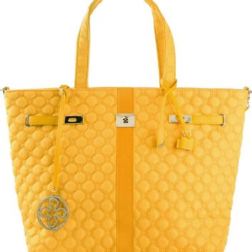 V73 quilted tote