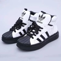 Adidas Extaball New fashion letter leaf print high help shoes women