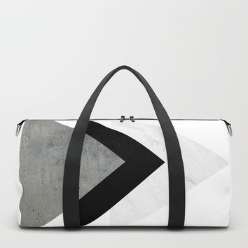 Arrows Monochrome Collage Duffle Bag by byjwp